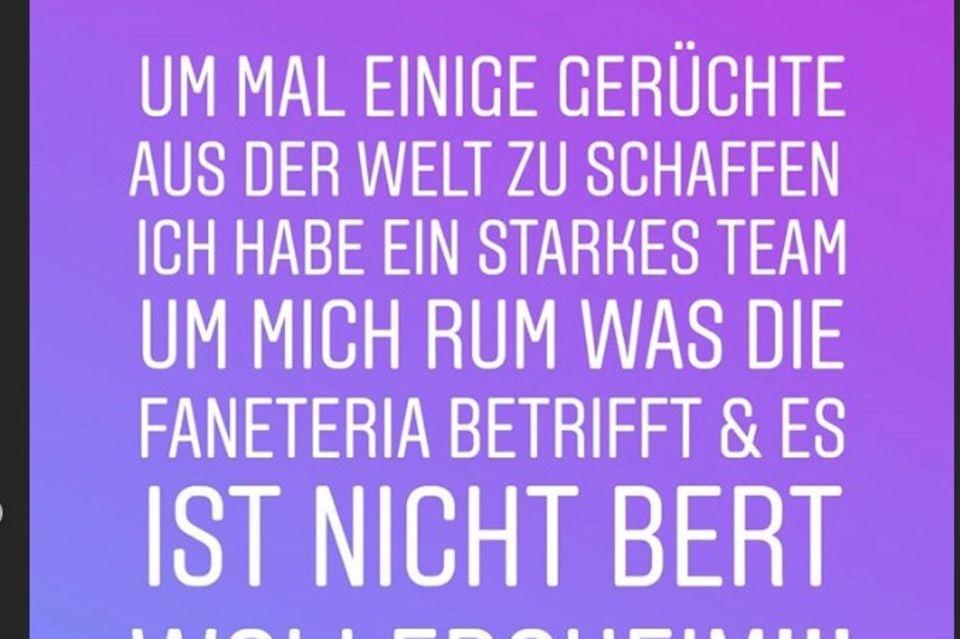 Ein Ausschnitt aus Daniela Büchners aktueller Story
