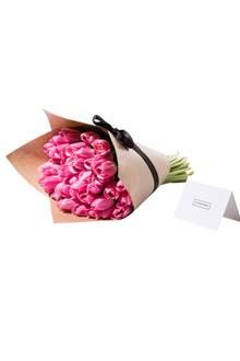 Ein echter Klassiker zum Muttertag: Blumen! Flowerbx bietet frische Sträuße aus nur einer einzigen Sorte und einer Farbe Blumen - ganz ohne Bindegrün und Füllblumen. Tulpenstrauß, ca. 35 Euro.