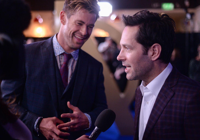 Ebenfalls Kamera-Lieblinge sind Chris Hemsworth und sein Schauspiel-Kollege Paul Rudd.