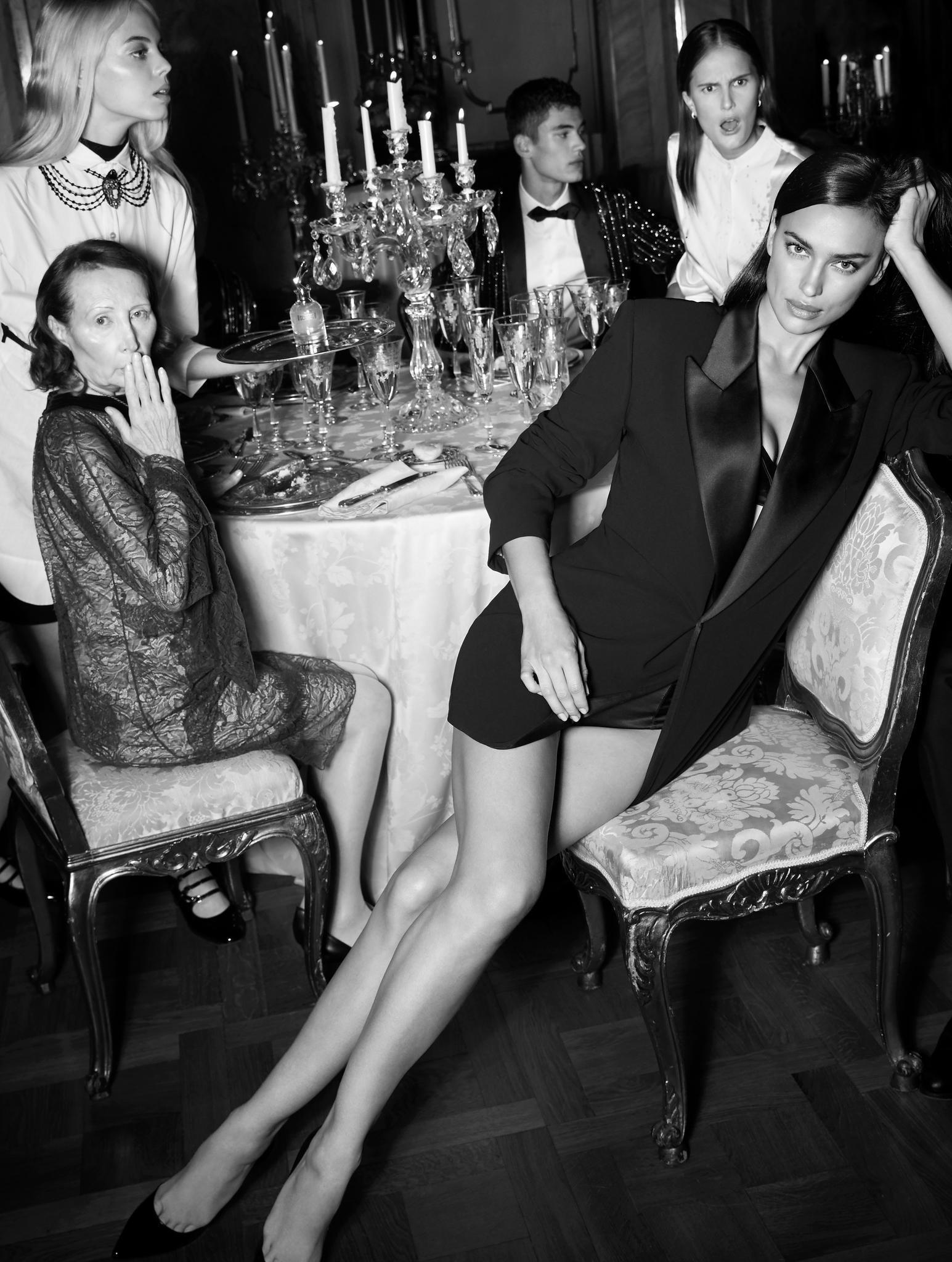 Irina Shayk für Jean Paul Gaultier.