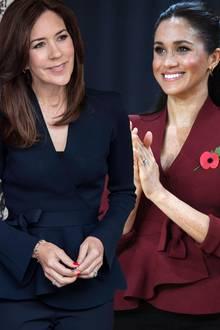 Prinzessin Mary und Herzogin Meghan.