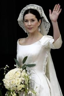 Weniger ist mehr, dachte sich Prinzessin Mary bei ihrem Brautkleid.