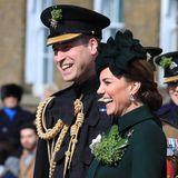 17. März 2019  Bei der Parade zum St. Patrick's Day lachen die beiden um die Wette.
