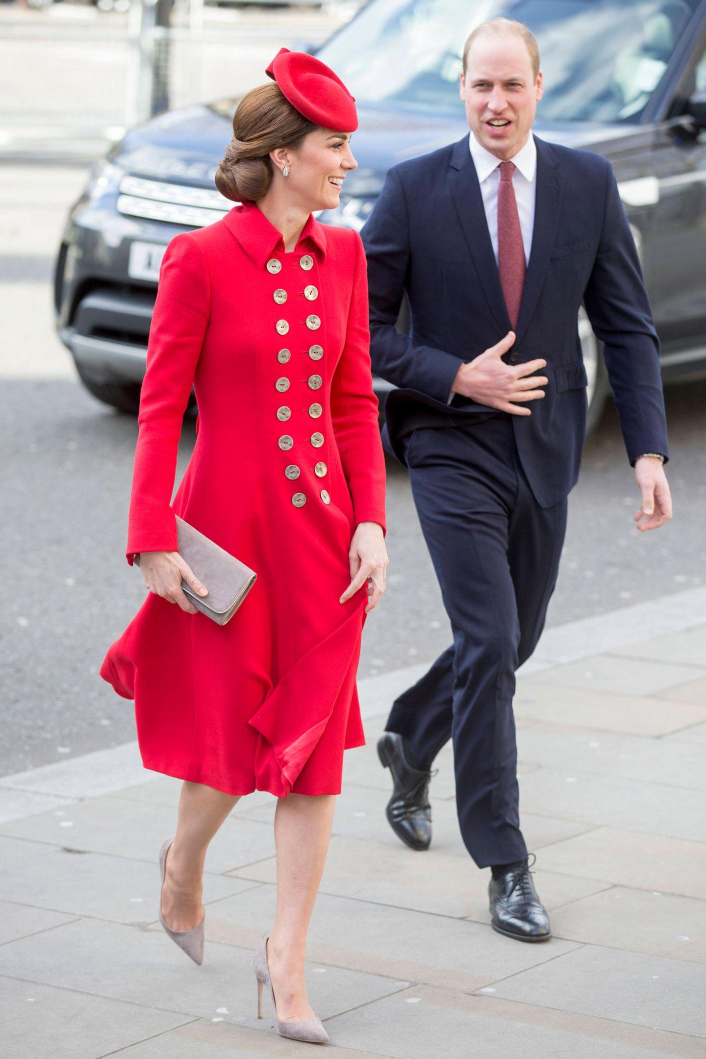 11. März 2019  Herzogin Catherine und Prinz William sind auf dem Weg zu den Feierlichkeiten anlässlich des Commonwealth Days.