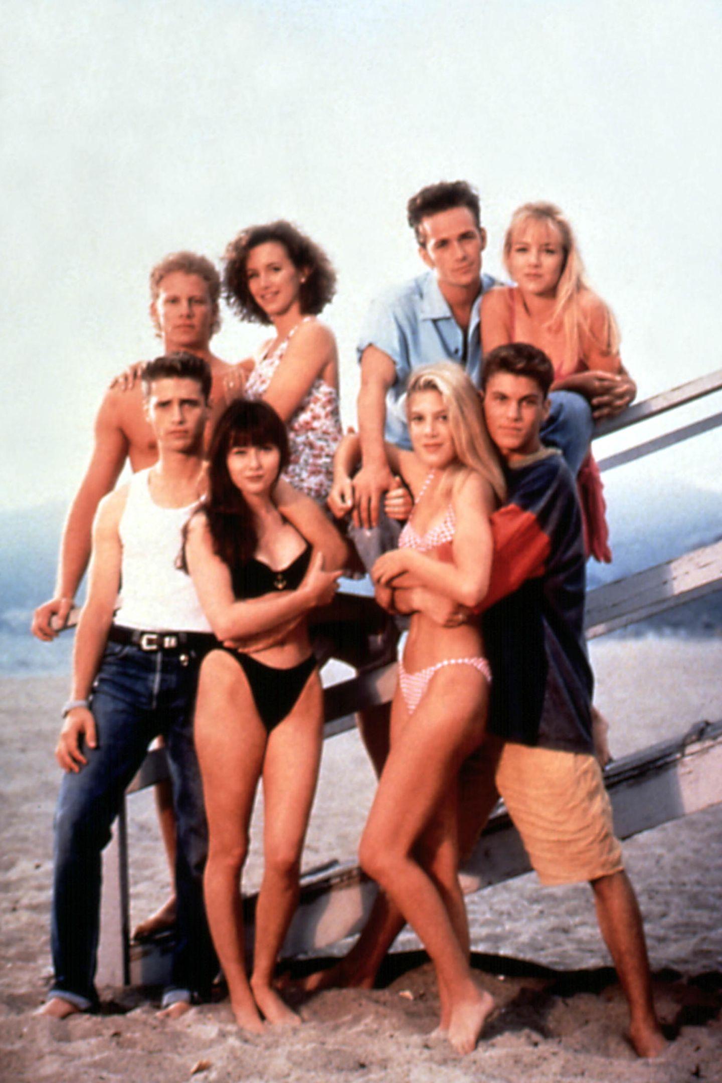 Ian Ziering, Gabrielle Carteris, Luke Perry, Jennie Garth, Jason Priestley, Shannen Doherty, Tori Spelling, Brian Austin Green