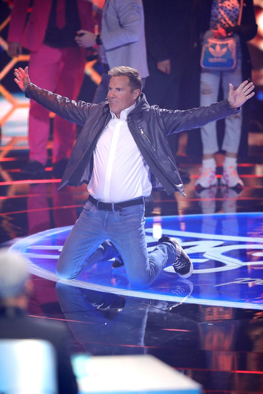 Stimmungsmacher Dieter Bohlen ist am Finalabend besonders guter Laune.
