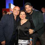 Giovanni Zarrella sieht sich die Final-Show mit seinen Eltern an.