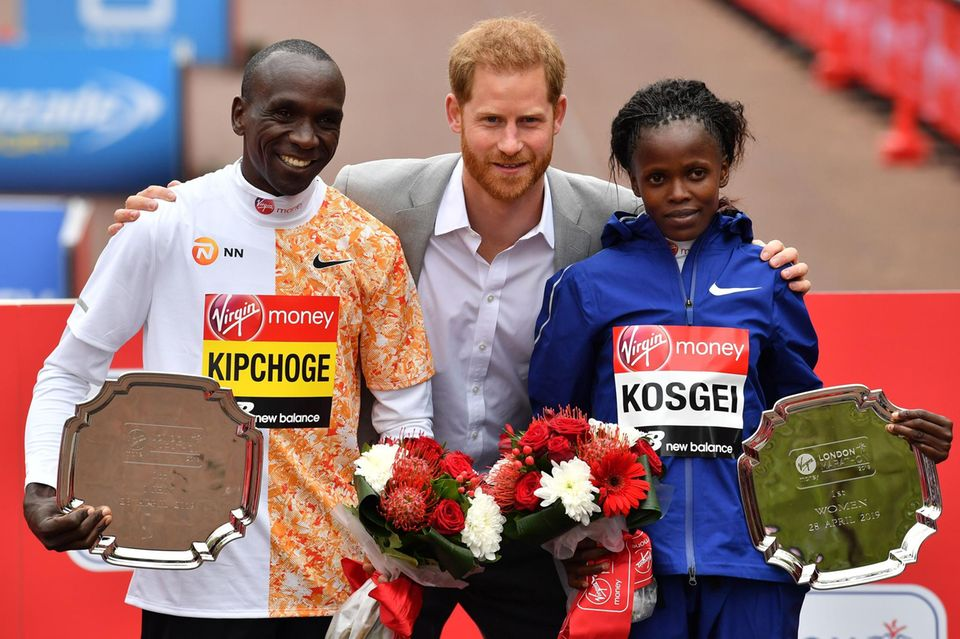 Prinz Harry beim London Marathon
