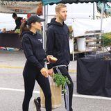 Aarika Wolf und Calvin Harris sind schon seit ein paar Monaten wieder ein Paar. Seit 2014 waren die beiden immer wieder zusammen und dann getrennt. In sportlichen Looks erledigen die beiden ihren Wocheneinkauf auf dem Markt in Los Angeles.