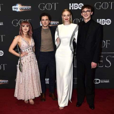 Maisie Williams, Kit Harington, Sophie Turner und Isaac Hempstead