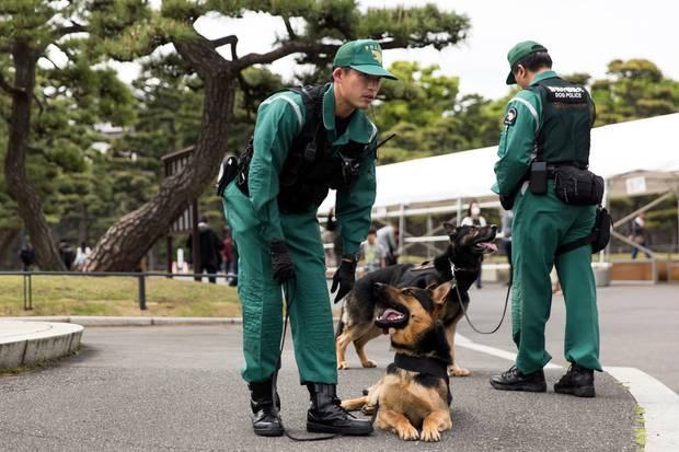 Die Vorbereitungen auf die Feierlichkeiten zur Abdankung von Kaiser Akihito laufen.