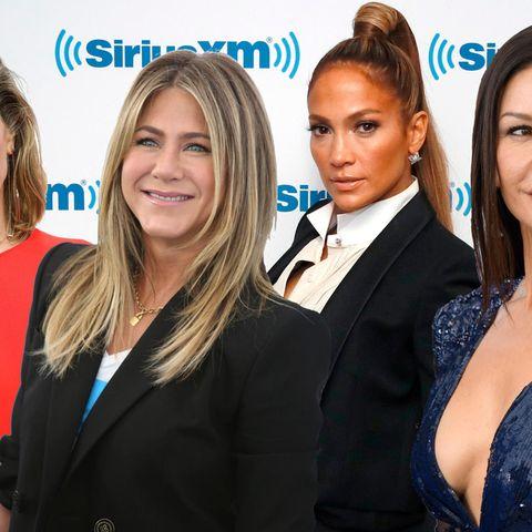 Marie Bäumer, Jennifer Aniston, Jennifer Lopez undCatherine Zeta-Jones