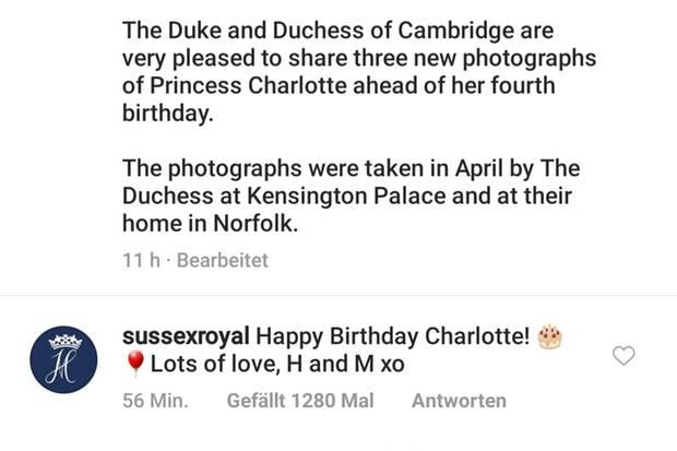 Prinz Harry und Herzogin Meghan gratulieren