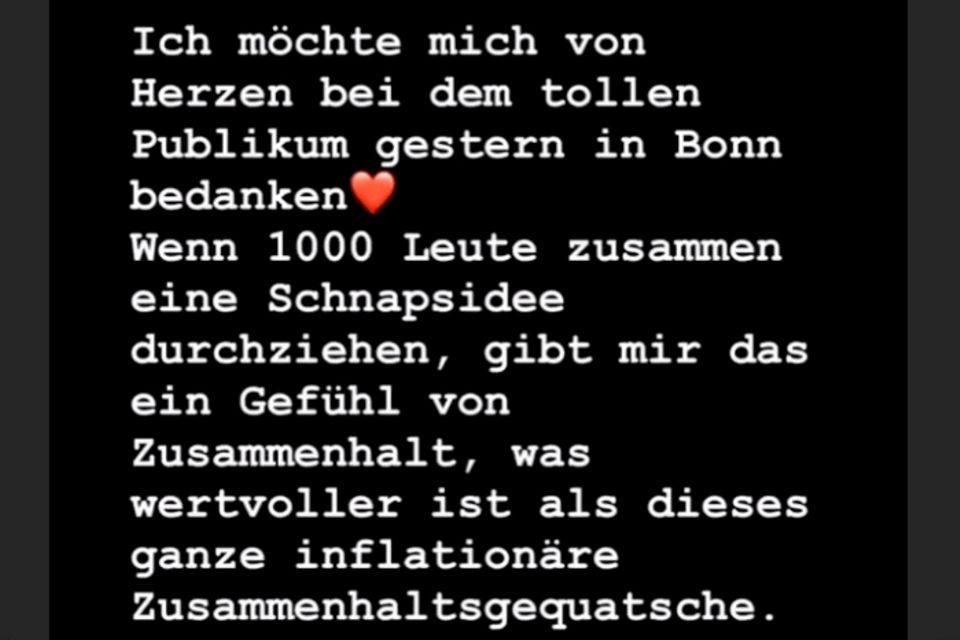 Olli Schulz bedankt sich auf Instagram für den Scherz bei seinen Fans
