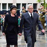 Der ehemalige Bundespräsident Joachim Gauck mit seinerLebensgefährtin Daniela Schadt