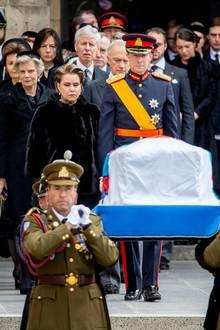 In großer Trauer:Großherzog Henri von Luxemburg und GroßherzoginMaria Teresa