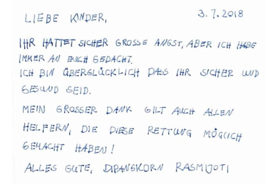 """Diesen Brief schrieb PrinzDipangkorn laut der Zeitung """"Khao Sod"""""""