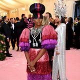 Mehr Fransen gehen kaum: Kiki Layne zeigt sich im Gucci-Kleid.