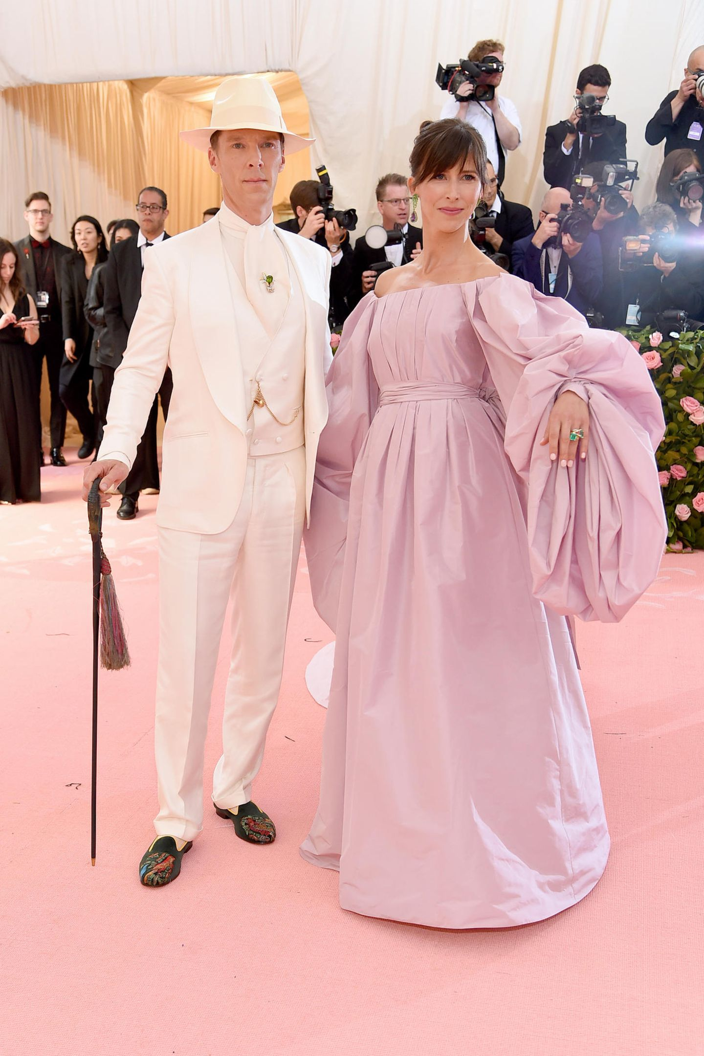 Benedict Cumberbatch und seine Frau Sophie legen einen dramatischen Auftritt hin.