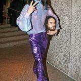 Nicht ohneseinen Kopf, dafür aber mit neuem, partytauglicherem Disco-Style ist Jared Leto nach der Met Gala unterwegs.