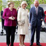 Kanzlerin Angela Merkel, Herzogin Camilla, Prinz Charles