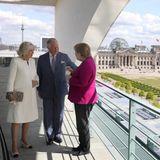 Herzogin Camilla, Prinz Charles und Kanzlerin Angela Merkel