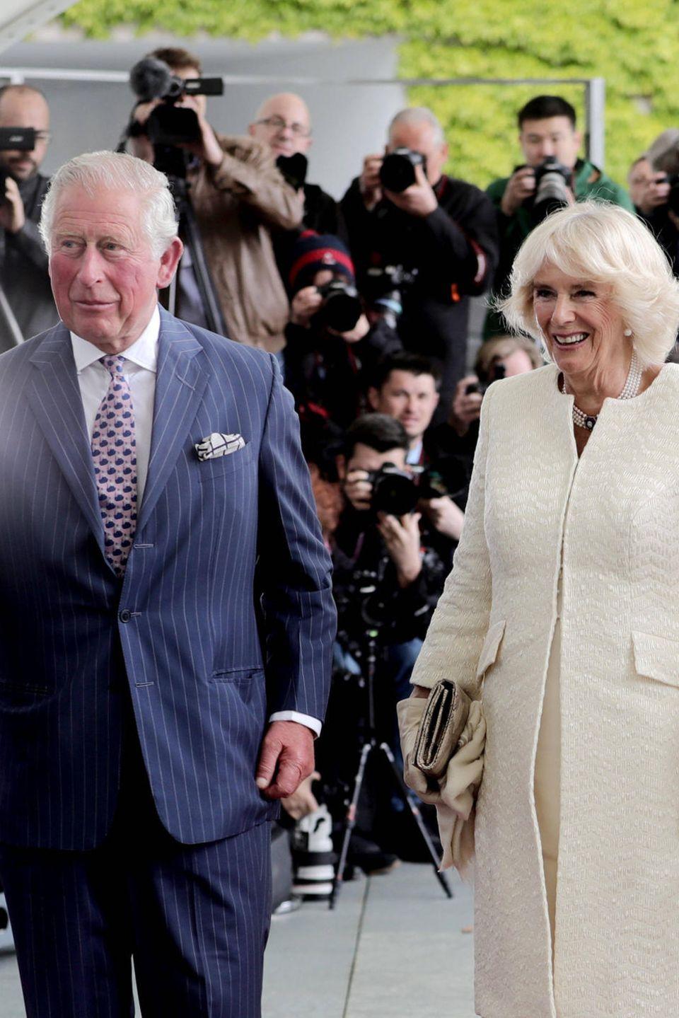 Prinz Charles, Herzogin Camilla, Angela Merkel