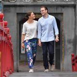 Um fünf Uhr morgens brechen Victoria und Daniel zum Spaziergang am SeeHoan Kiem auf.