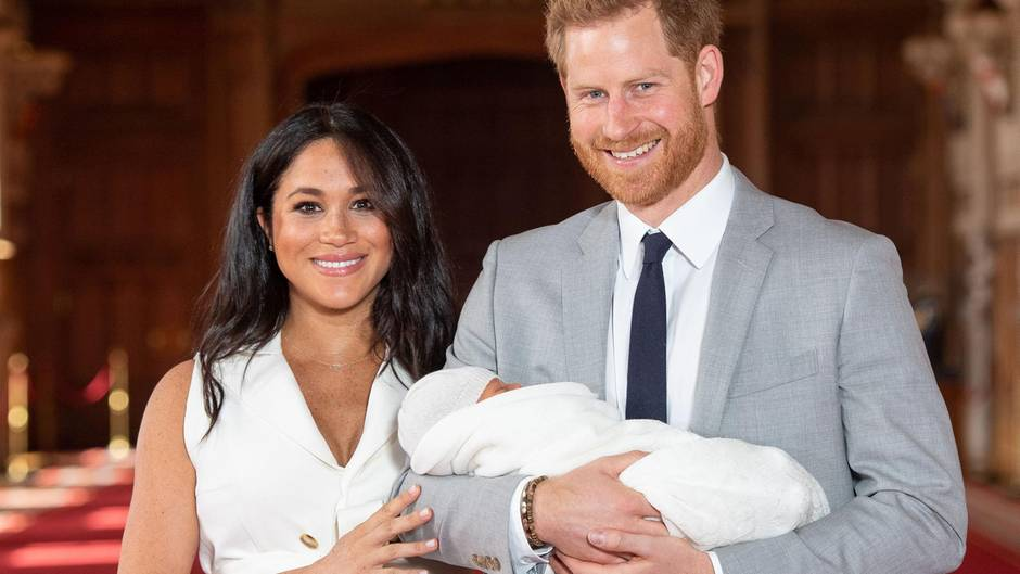 Prinz Harry, Herzogin Meghan mit Baby Sussex