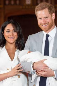 Prinz Harry, Herzogin Meghan mit Baby Sussex