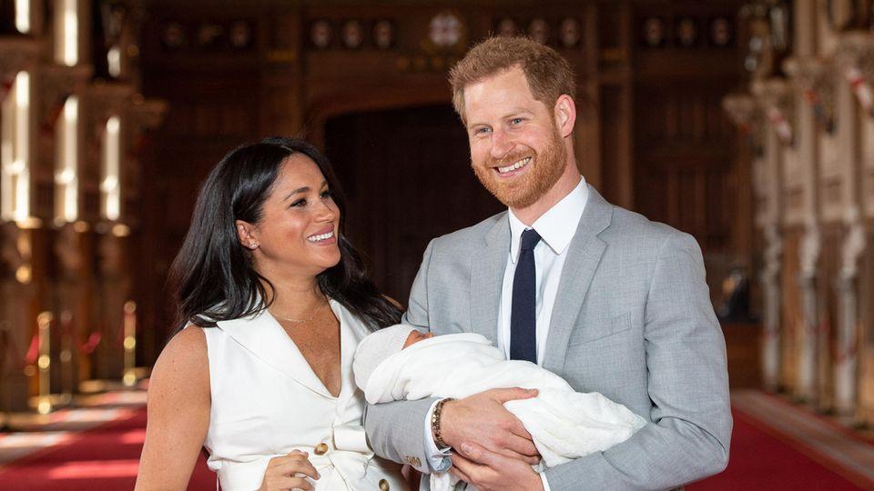 Herzogin Meghan,Archie Harrison Mountbatten-Windsor, Prinz Harry