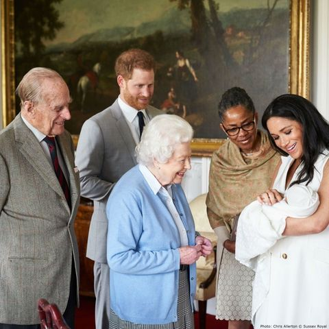 Prinz Philip, Prinz Harry, Queen Elizabeth, Doria Ragland, Herzogin Meghan, Archie Harrison Mountbatten-Windsor