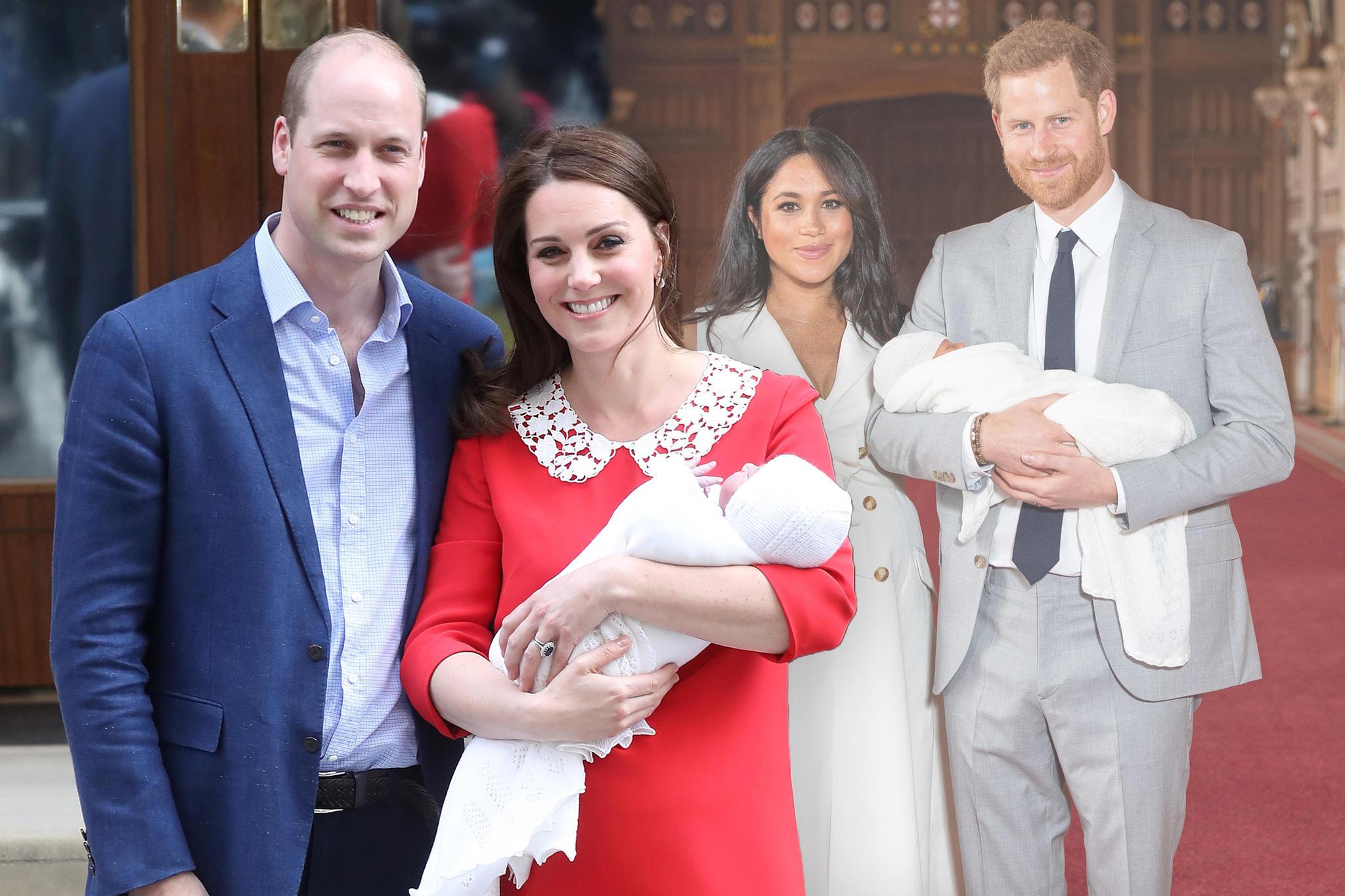 Prinz William + Herzogin Catherine, Herzogin Meghan + Prinz Harry
