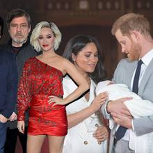Jamie Oliver, Mark Hamill, Katy Perry, Herzogin Meghan, Prinz Harry und Archie Harrison Mountbatten-Windsor