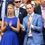 2018 verfolgen Lady Gabriella und ihr Bruder Lord Frederick auf der Tribüne das Tennisturnier in Wimbledon.
