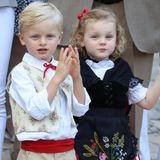 10. Mai 2019  Prinz Jacques und Prinzessin (hier im August 2018) feiern Jubiläum: Vier Jahre ist es nun her, dass die Zwillinge von Fürst Albert und Fürstin Charlène getauft wurden.