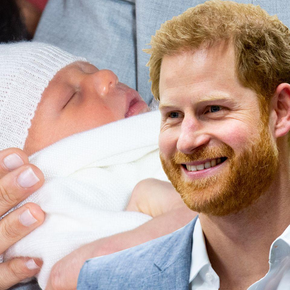 Prinz Harry + Archie Harrison Mountbetten-Windsor