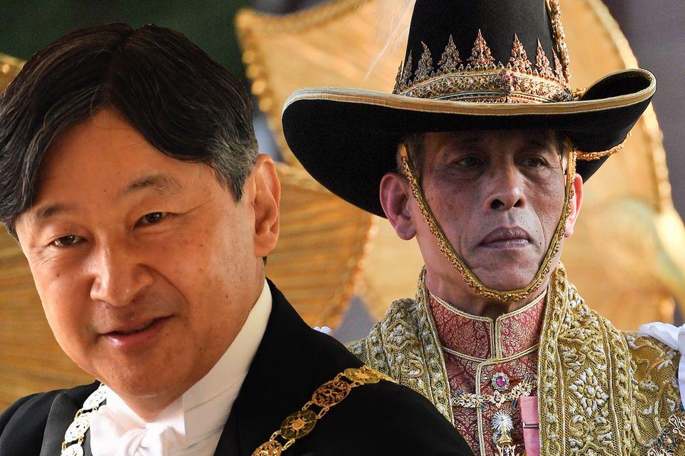 Kaiser Naruhito und König Maha Vajiralongkorn, der den Titel Rama X. führt