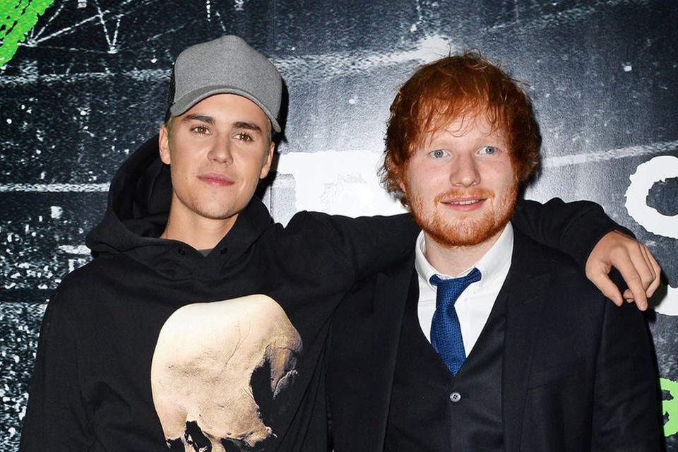 Justin Bieber und Ed Sheeran