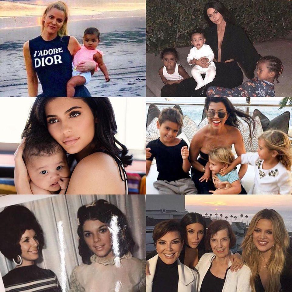 Kris Jenner teilt am Muttertag eine Collage, auf dem ihre Mutter M.J., ihre Töchter und Enkel zu sehen sind und schreibt in einem emotionalen Kommentar, wie dankbar, stolz und voller Liebe sie sei.