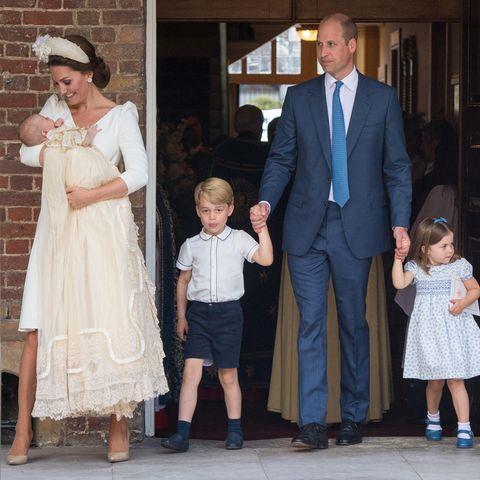Prinz William, Herzogin Kate, Prinz Louis, Prinz George und Prinzessin Charlotte