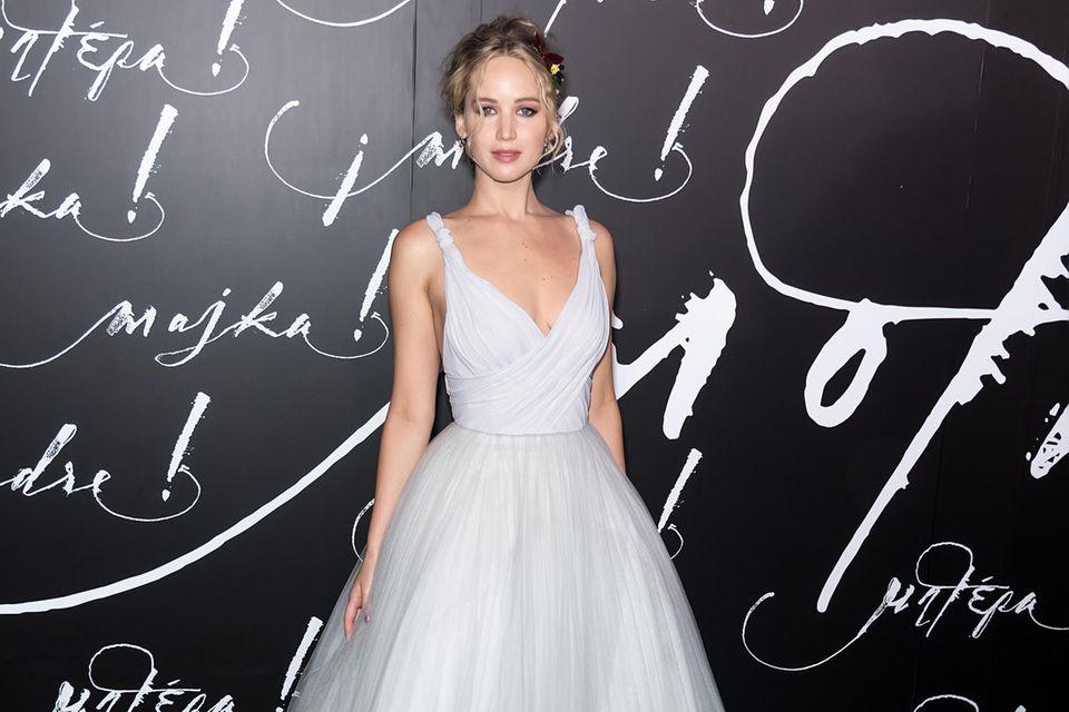 Jennifer Lawrence in einem Traumkleid von Dior.