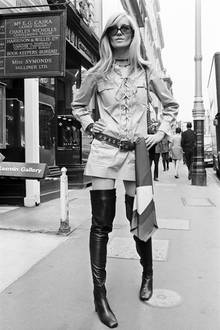 Betty Cartoux, 1969 in London.