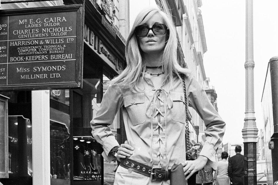 Betty Cartoux, 1969 in London.