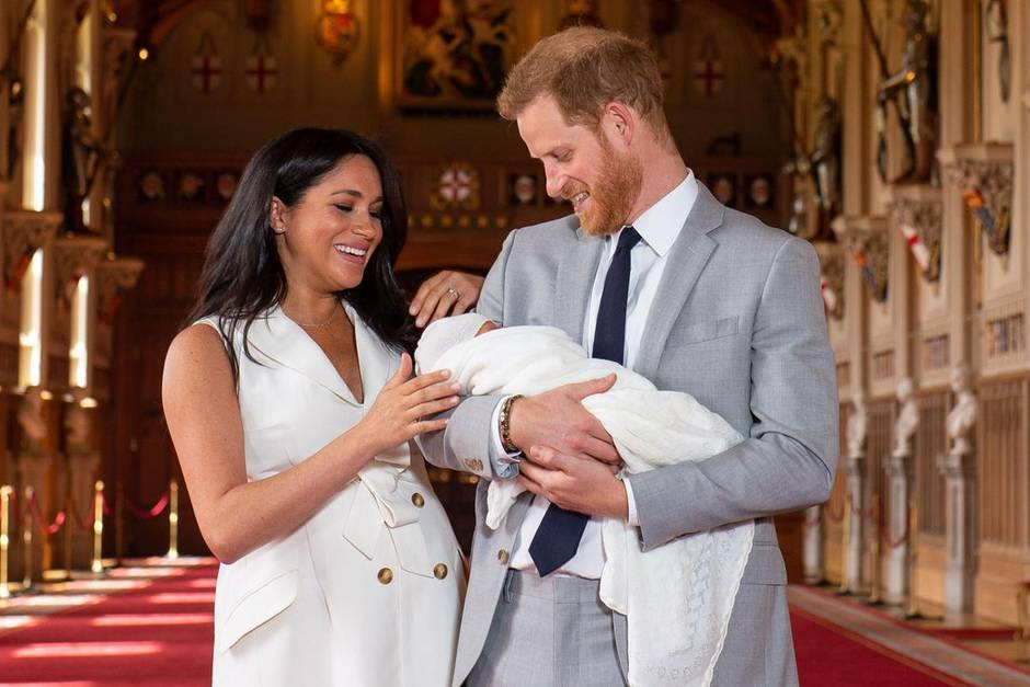 Herzogin Meghan und Prinz Harry mit Archie Mountbatten-Windsor