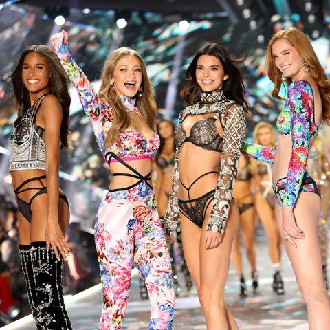 Cindy Bruna, Gigi Hadid, Kendall Jenner undAlexina Graham bei der Victoria's Secret Show 2018