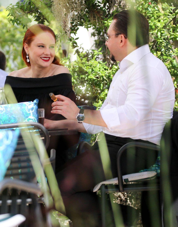 Vor dem Trubelder Eröffnung der 72. Internationalen Filmfestspiele in Cannes gönnen sich Barbara Meier und ihr Verlobter Klemens Hallmann ein entspanntes Mittagessen zu zweit im Hotel Martinez.Vor genau einem Jahr hatder Unternehmer dem Modeleinen romantischen Heiratsantrag in Cannes gemacht.