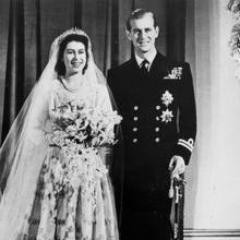 Die damalige Prinzessin Elizabeth heiratet am 20. November 1947 den Herzog von Edinburgh