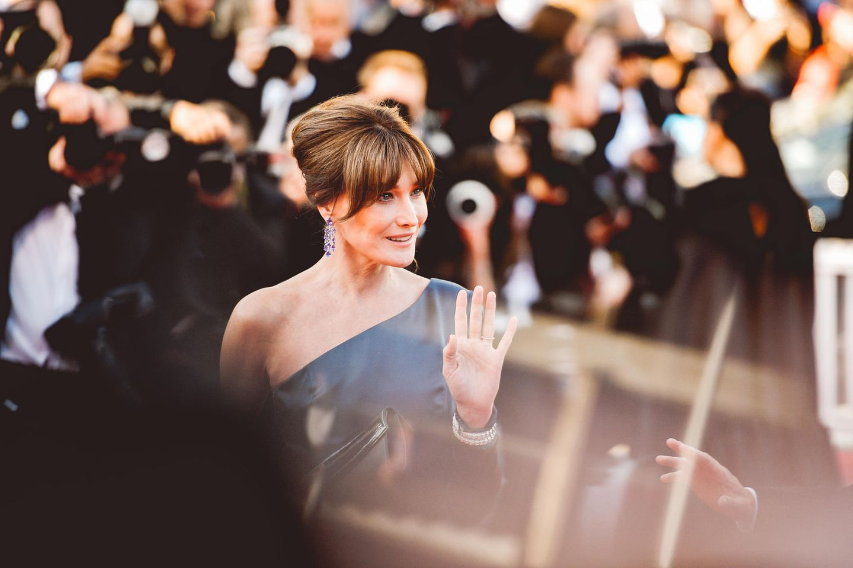 """Elegant wie eh und je: Carla Bruni bei der Filmvorstellung von """"Les Miserables"""" in Cannes."""