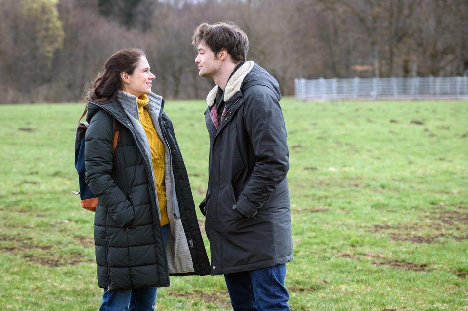 """""""Sturm der Liebe"""": Denise Saalfeld (Helen Barke) und Joshua Winter (Julian Schneider)"""